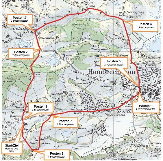 RMVZOL-Strecke in Stäfa/Hombrechtikon - Runde: 7.8 km